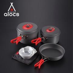 Набор посуды для походов и поездок: 2 кастрюли, сковорода, чашки, половник
