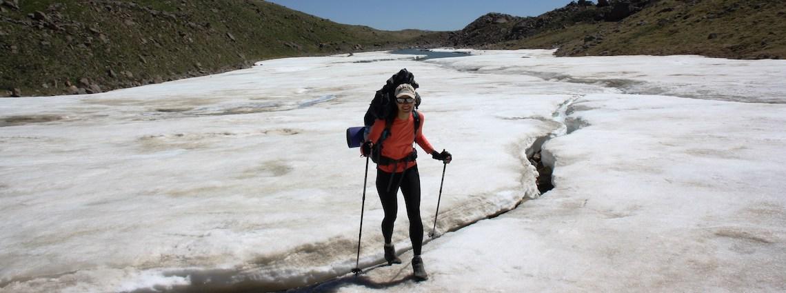 поход по снегу и льду